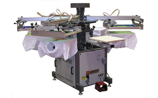 Lawson Trooper Automatic Textile Printing Press Impressions