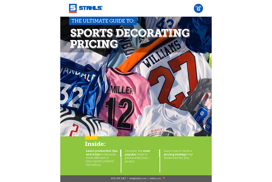 Stahls' Offers Free Sports-Decorating Pricing Ebook | Impressions